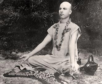 Bauji meditating