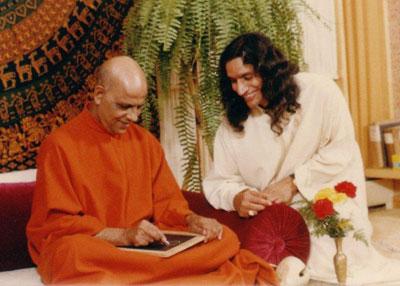 Bapuji with Gurudev